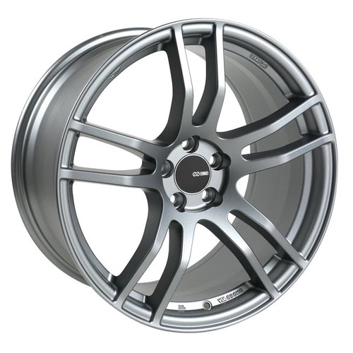 Enkei 491-880-4445GR TX5 Platinum Gray Tuning Wheel 18x8 5x112 45mm Offset 72.6mm Bore