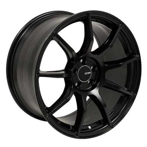 Enkei 492-880-8045BK TS9 Matte Black Tuning Wheel 18x8 5x100 45mm Offset 72.6mm Bore
