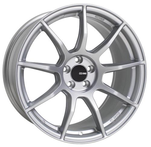 Enkei 492-895-8040SP TS9 Matte Silver Tuning Wheel 18x9.5 5x100 40mm Offset 72.6mm Bore