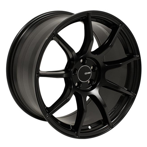 Enkei 492-895-8045BK TS9 Matte Black Tuning Wheel 18x9.5 5x100 45mm Offset 72.6mm Bore