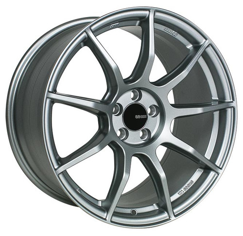 Enkei 492-895-8045GR TS9 Platinum Gray Tuning Wheel 18x9.5 5x100 45mm Offset 72.6mm Bore