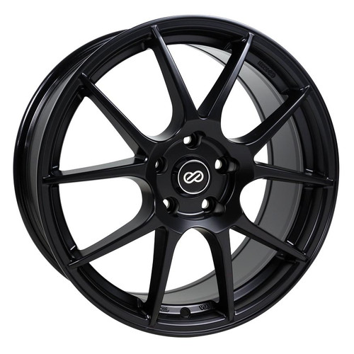 Enkei 494-775-4942BK YS5 Matte Black Performance Wheel 17x7.5 4x100 42mm Offset 72.6mm Bore