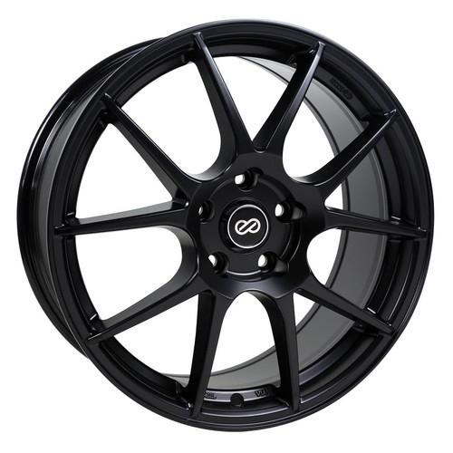 Enkei 494-880-4445BK YS5 Matte Black Performance Wheel 18x8 5x112 45mm Offset 72.6mm Bore