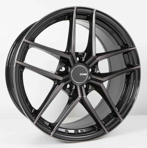 Enkei 498-885-6525MBM TY5 Pearl Black with Machined Spoke Tuning Wheel 18x8.5 5x114.3 25mm Offset 72