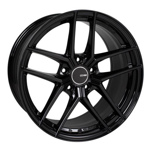 Enkei 498-895-6535BK TY5 Gloss Black Tuning Wheel 18x9.5 5x114.3 35mm Offset 72.6mm Bore
