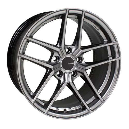 Enkei 498-980-4445HS TY5 Hyper Silver Tuning Wheel 19x8 5x112 45mm Offset 72.6mm Bore