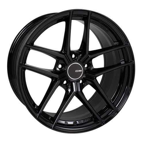 Enkei 498-985-1238BK TY5 Gloss Black Tuning Wheel 19x8.5 5x120 38mm Offset 72.6mm Bore