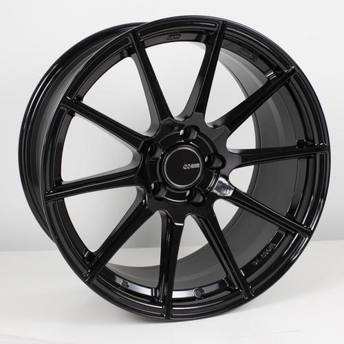 Enkei 499-790-8045BK TS10 Gloss Black Tuning Wheel 17x9 5x100 45mm Offset 72.6mm Bore