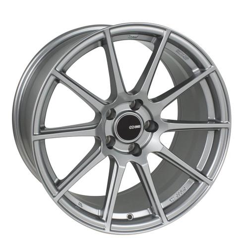 Enkei 499-885-4445GR TS10 Storm Gray Tuning Wheel 18x8.5 5x112 45mm Offset 72.6mm Bore