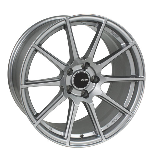 Enkei 499-885-6550GR TS10 Storm Gray Tuning Wheel 18x8.5 5x114.3 50mm Offset 72.6mm Bore