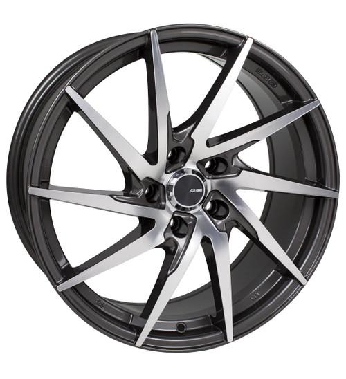 Enkei 500-775-4942GMM PW10 Gunmetal Machined Performance Wheel 17x7.5 4x100 42mm Offset 72.6mm Bore