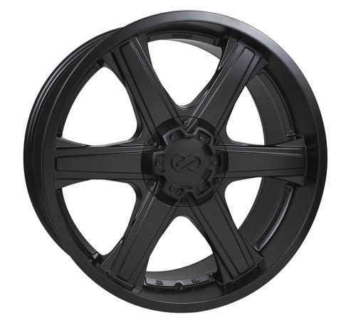 Enkei 503-2295-8330BK Blackhawk Matte Black Truck Wheel 22x9.5 6x139.7 30mm Offset 78mm Bore