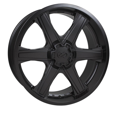 Enkei 503-885-8410BK Blackhawk Matte Black Truck Wheel 18x8.5 6x139.7 10mm Offset 108.5mm Bore