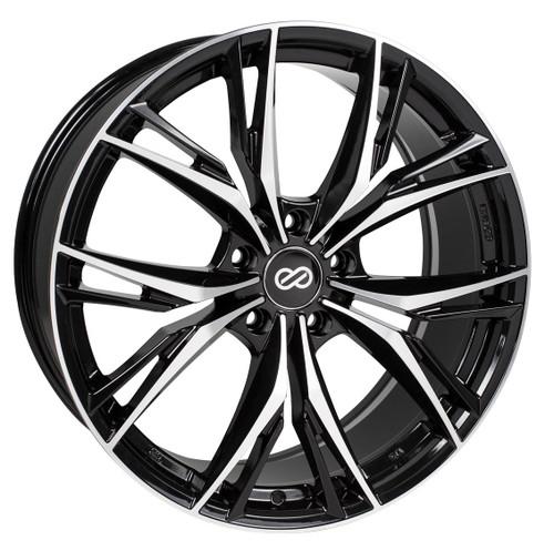 Enkei 505-880-1240BKM ONX Black Machined Performance Wheel 18x8 5x120 40mm Offset 72.6mm Bore