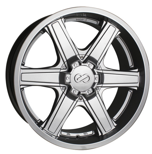 Enkei 503-295-5830SP Blackhawk Silver Truck Wheel 20x9.5 5x150 30mm Offset 108.5mm Bore