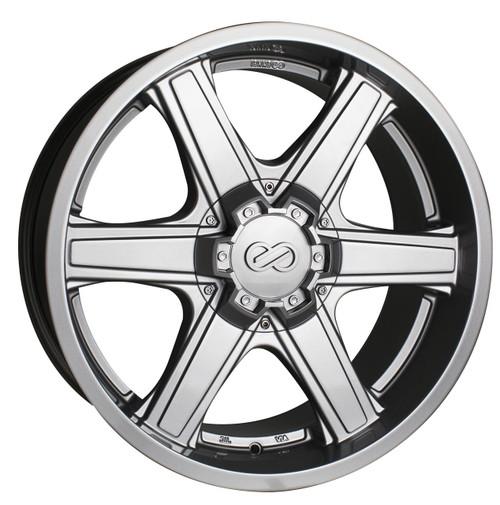 Enkei 503-885-8410SP Blackhawk Silver Truck Wheel 18x8.5 6x139.7 10mm Offset 108.5mm Bore