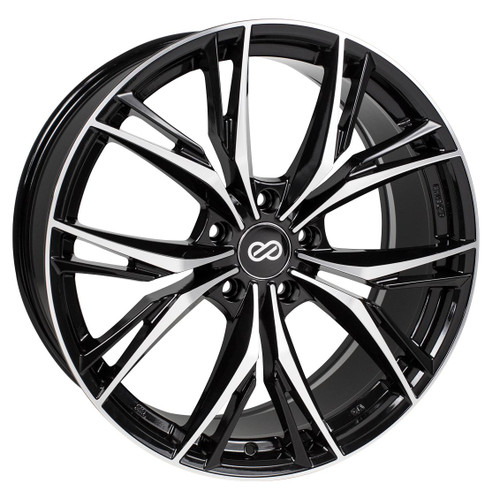 Enkei 505-285-4435BKM ONX Black Machined Performance Wheel 20x8.5 5x112 40mm Offset 72.6mm Bore