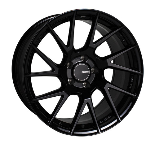 Enkei 507-880-8045BK TM7 Gloss Black Tuning Wheel 18x8 5x100 45mm Offset 72.6mm Bore