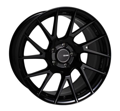 Enkei 507-895-8045BK TM7 Gloss Black Tuning Wheel 18x9.5 5x100 45mm Offset 72.6mm Bore