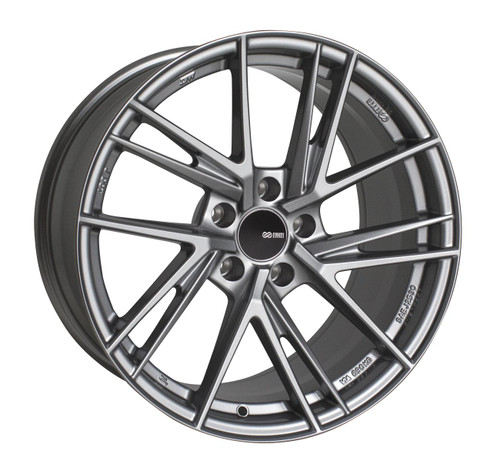 Enkei 508-885-6538GR TD5 Storm Gray with Machined Spoke Tuning Wheel 18x8.5 5x114.3 38mm Offset 72.6