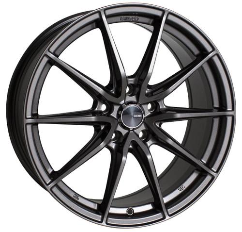 Enkei 509-775-6538AP Draco Anthracite Performance Wheel 17x7.5 5x114.3 38mm Offset 72.6mm Bore