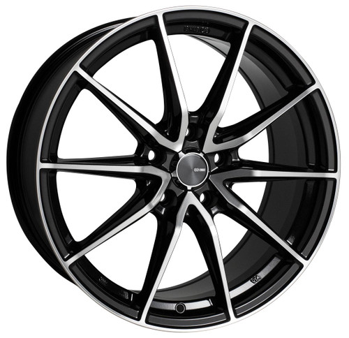 Enkei 509-775-6538BKM Draco Black Machined Performance Wheel 17x7.5 5x114.3 38mm Offset 72.6mm Bore