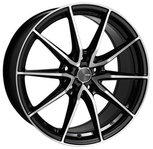 Enkei 509-880-4445BKM Draco Black Machined Performance Wheel 18x8 5x112 45mm Offset 72.6mm Bore