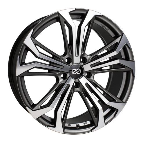 Enkei 510-880-5140AM Vortex5 Anthracite Machined Performance Wheel 18x8 5x110 40mm Offset 72.6mm Bor