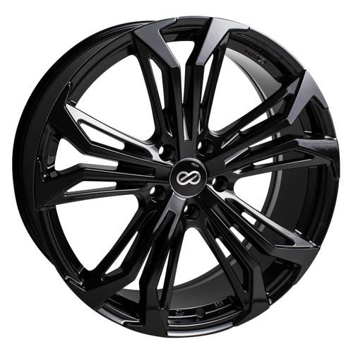 Enkei 510-880-6538BK Vortex5 Gloss Black Performance Wheel 18x8 5x114.3 38mm Offset 72.6mm Bore