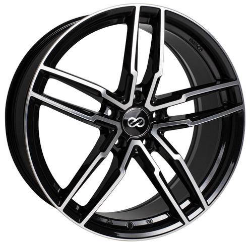 Enkei 511-775-8045BKM SS05 Black Machined Performance Wheel 17x7.5 5x100 45mm Offset 72.6mm Bore