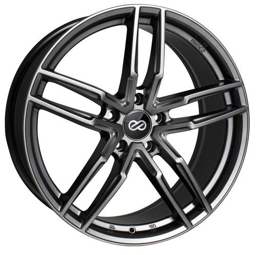 Enkei 511-775-8045GR SS05 Hyper Gray Performance Wheel 17x7.5 5x100 45mm Offset 72.6mm Bore