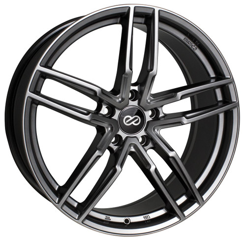 Enkei 511-880-1240GR SS05 Hyper Gray Performance Wheel 18x8 5x120 40mm Offset 72.6mm Bore