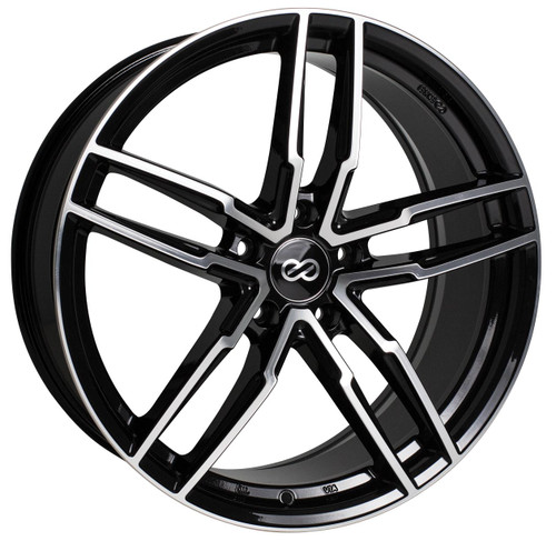 Enkei 511-880-4445BKM SS05 Black Machined Performance Wheel 18x8 5x112 45mm Offset 72.6mm Bore