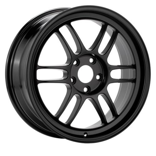 Enkei 3796804938BK RPF1 16x8 4X100 38mm Offset Racing Series Wheel Black 73mm Bore
