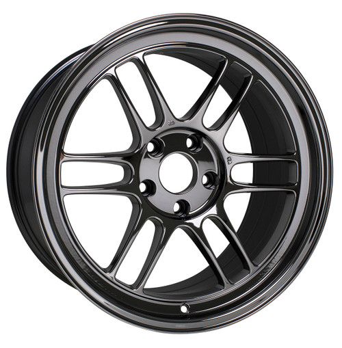 Enkei 3798956538BK RPF1 18x9.5 5x114.3 38mm Offset Racing Series Wheel Black 73mm Bore