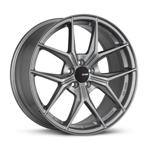 Enkei 529-880-4445GR TSR-X 18x8 5x112 45mm Offset Tuning Series Wheel Storm Gray 72.6mm Bore