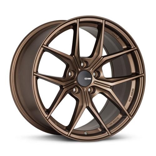 Enkei 529-895-6538ZP TSR-X 18x9.5 5x114.3 38mm Offset Tuning Series Wheel Gloss Bronze 72.6mm Bore