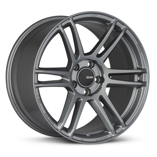 Enkei 530-880-4445GR TSR-6 18x8 5x112 45mm Offset Tuning Series Wheel Titanium Gray 72.6mm Bore