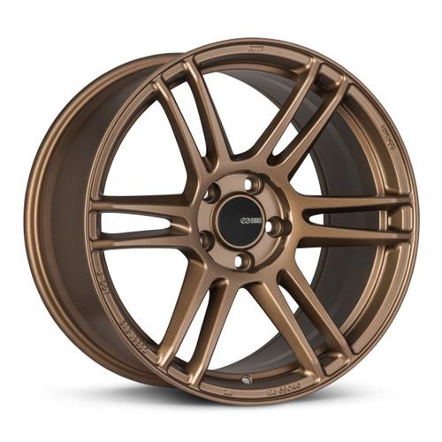 Enkei 530-880-6540ZP TSR-6 18x8 5x114.3 40mm Offset Tuning Series Wheel Matte Bronze 72.6mm Bore