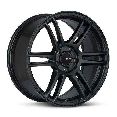 Enkei 530-880-8045BK TSR-6 18x8 5x100 45mm Offset Tuning Series Wheel Matte Black 72.6mm Bore