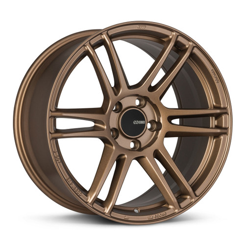 Enkei 530-880-8045ZP TSR-6 18x8 5x100 45mm Offset Tuning Series Wheel Matte Bronze 72.6mm Bore