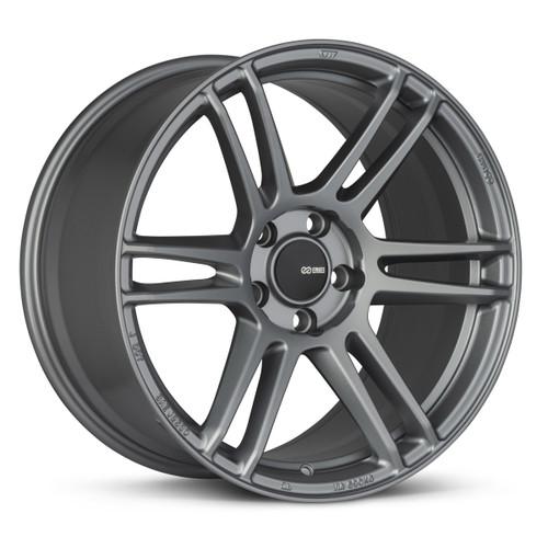 Enkei 530-895-8045GR TSR-6 18x9.5 5x100 45mm Offset Tuning Series Wheel Titanium Gray 72.6mm Bore