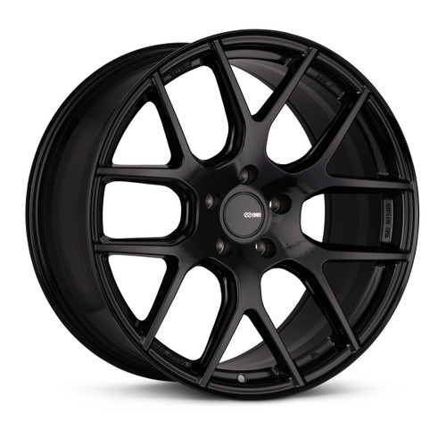 Enkei 531-880-1240BK XM-6 18x8 5x120 40mm Offset Performance Series Wheel Gloss Black 72.6mm Bore