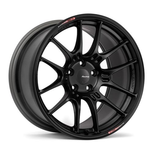 Enkei 534-880-8045BK GTC02 18x8 5x100 45mm Offset Racing Series Wheel Matte Black 75mm Bore