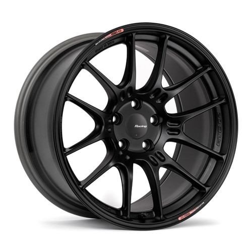 Enkei 534-890-8042BK GTC02 18x9 5x100 42mm Offset Racing Series Wheel Matte Black 75mm Bore