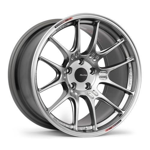 Enkei 534-895-6515HS GTC02 18x9.5 5x114.3 15mm Offset Racing Series Wheel Hyper Silver 75mm Bore