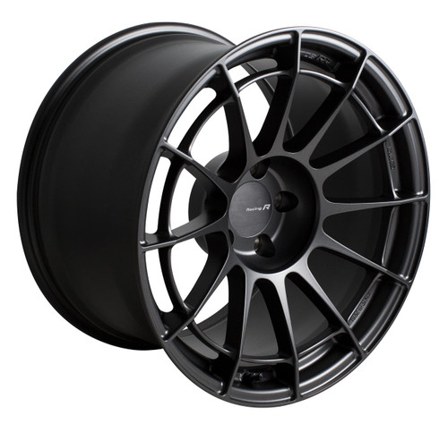 Enkei 512-890-4445GM NT03RR Matte Gunmetal Racing Wheel 18x9 5x112 45mm Offset 66.5mm Bore