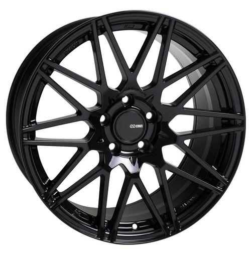 Enkei 515-880-4445BK TMS Gloss Black Tuning Wheel 18x8 5x112 45mm Offset 72.6mm Bore