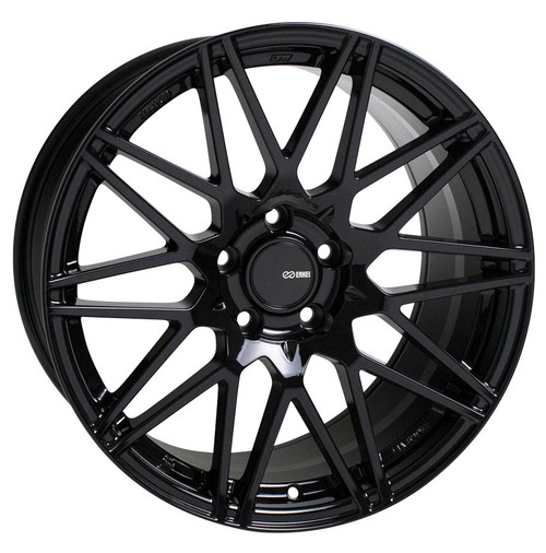 Enkei 515-880-8045BK TMS Gloss Black Tuning Wheel 18x8 5x100 45mm Offset 72.6mm Bore