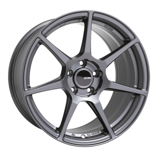 Enkei 516-880-8045GM TFR Matte Gunmetal Tuning Wheel 18x8 5x100 45mm Offset 72.6mm Bore